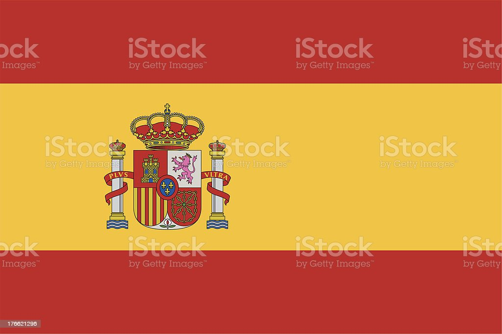 Flag of Spain icon with no background vector art illustration
