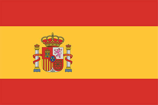 flag of spain icon with no background - spanish flag stock illustrations, clip art, cartoons, & icons