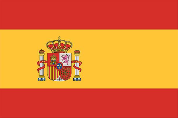 flagge von spanien - südeuropa stock-grafiken, -clipart, -cartoons und -symbole