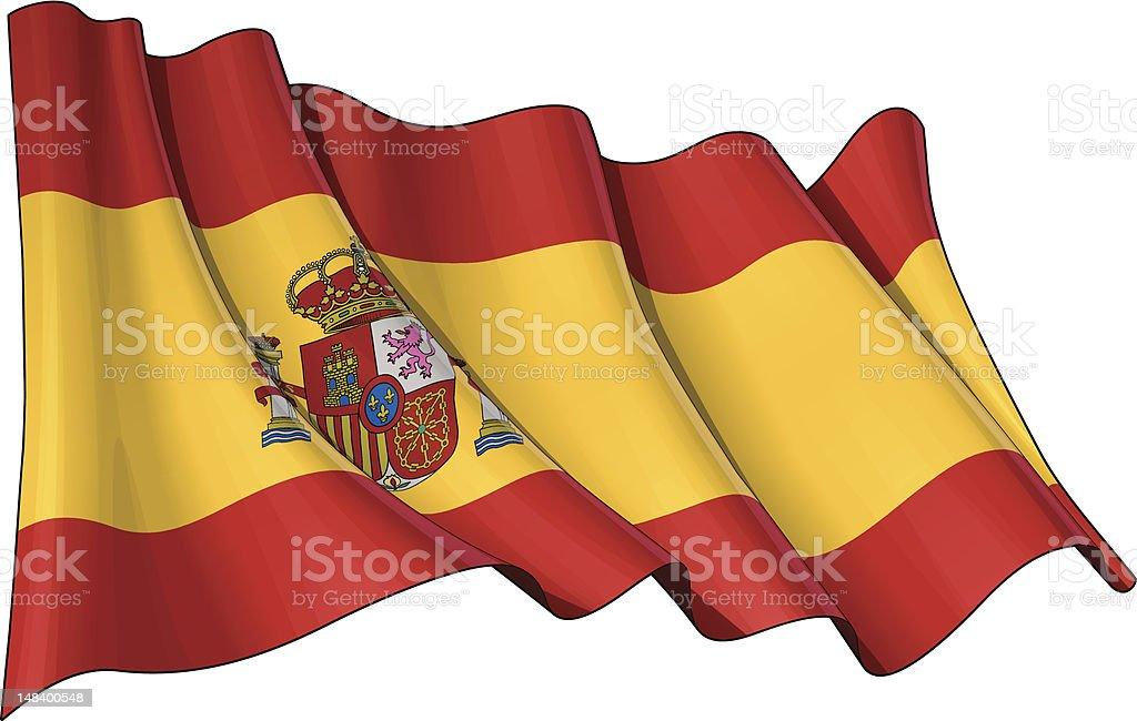 Flag of Spain royalty-free stock vector art