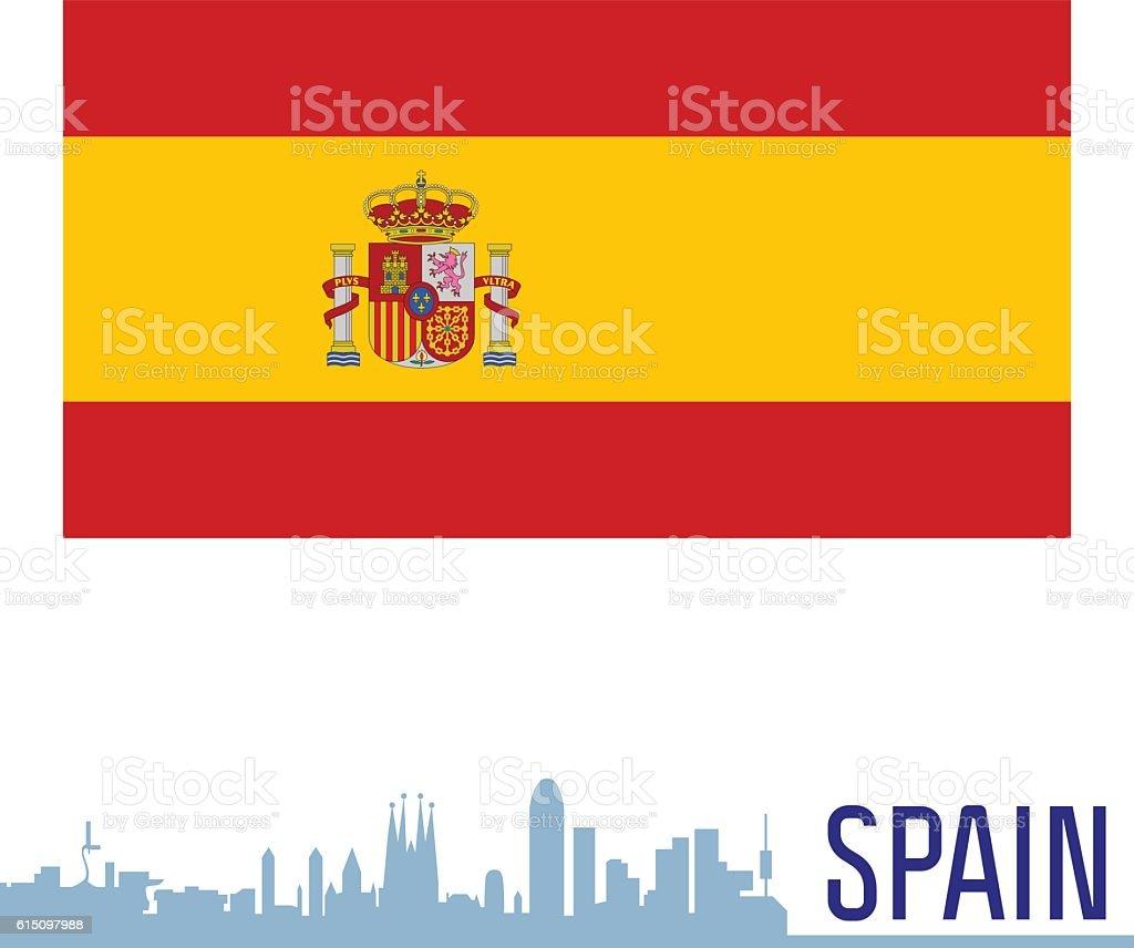 Flag Ispanii Stokovaya Vektornaya Grafika I Drugie Izobrazheniya Na Temu Barselona Ispaniya Istock