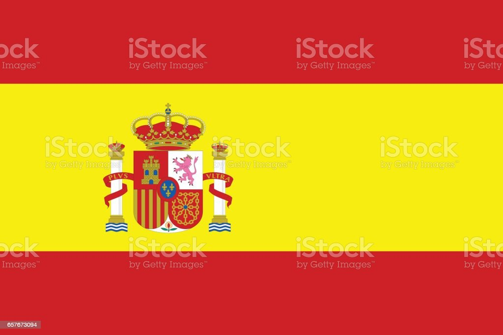 Flag of Spain vector art illustration