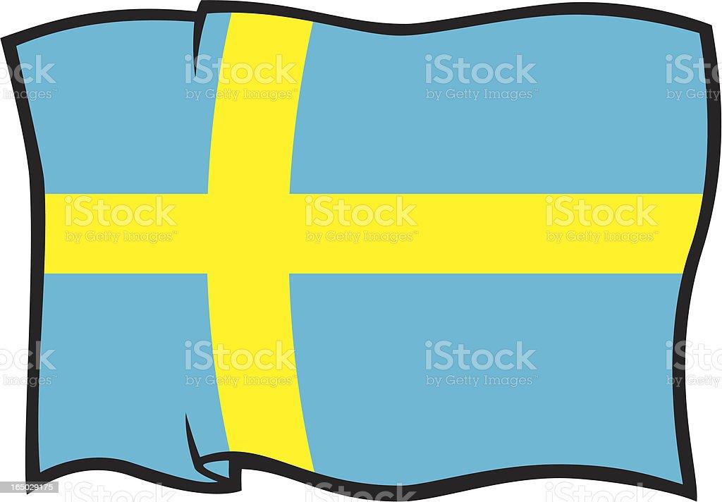 Flag of Sweden royalty-free stock vector art