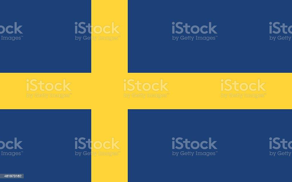 Flag of Sweden vector art illustration