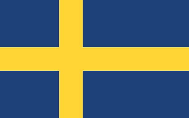 スウェーデンの旗 - スウェーデンの国旗点のイラスト素材/クリップアート素材/マンガ素材/アイコン素材