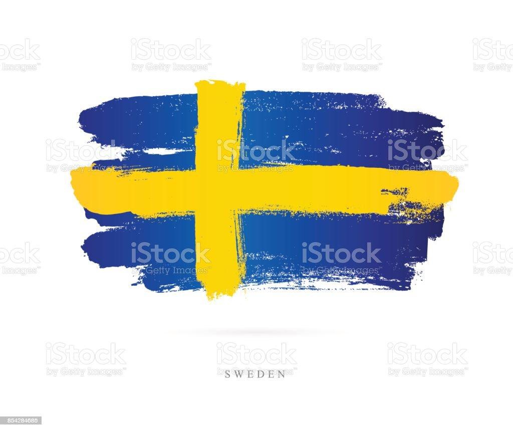 Flagge von Schweden. Vektor-illustration – Vektorgrafik