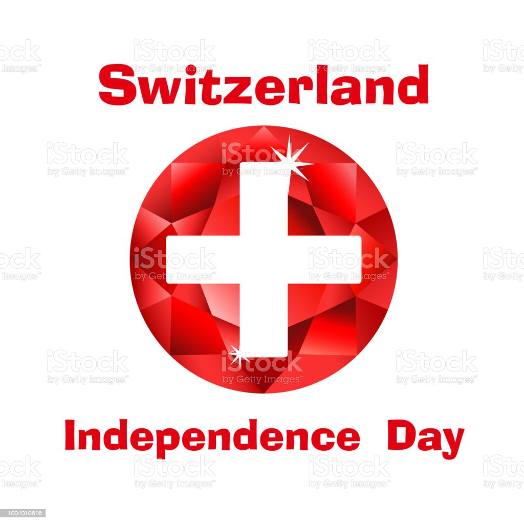 Flag Of Switzerland For Swiss Independence Day Stock Vector Art