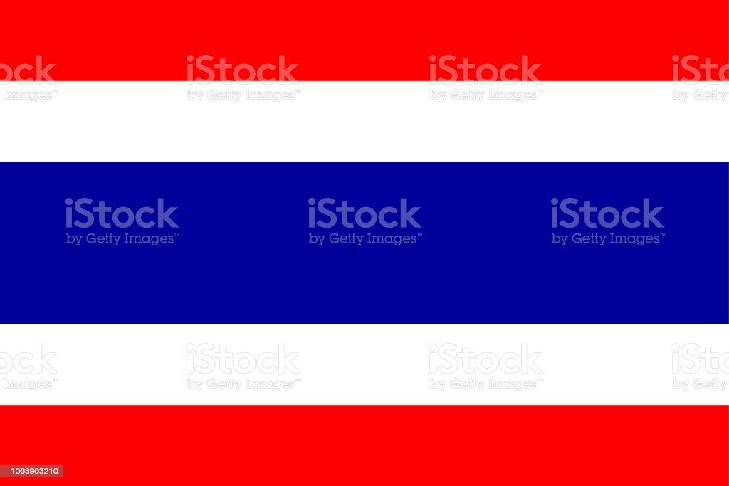 タイの国旗 ベクターアートイラスト