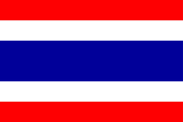 flag of thailand - thai flag stock illustrations, clip art, cartoons, & icons