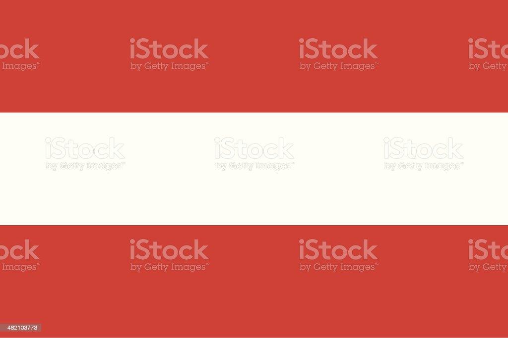 Flag of the Austria royalty-free stock vector art