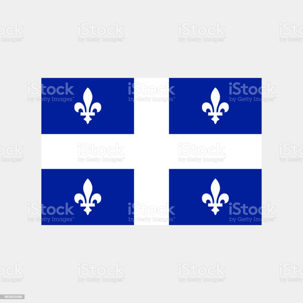 Flag of the Canadian province of Quebec in correct size, proportions and colors. Vector illustration - Royalty-free Backgrounds stock vector