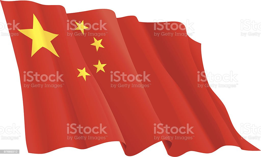 Flag of the China vector art illustration