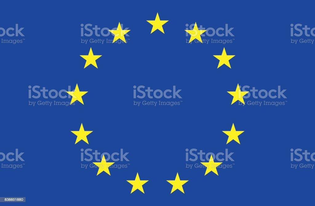 Flag of the European Union vector art illustration