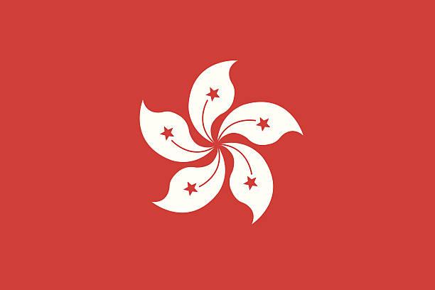 illustrazioni stock, clip art, cartoni animati e icone di tendenza di bandiera di hong kong - hong kong