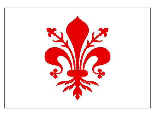 flagge der italienischen stadt florenz - padua stock-grafiken, -clipart, -cartoons und -symbole