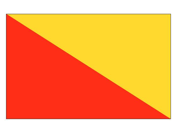 flagge der italienischen stadt palermo - padua stock-grafiken, -clipart, -cartoons und -symbole