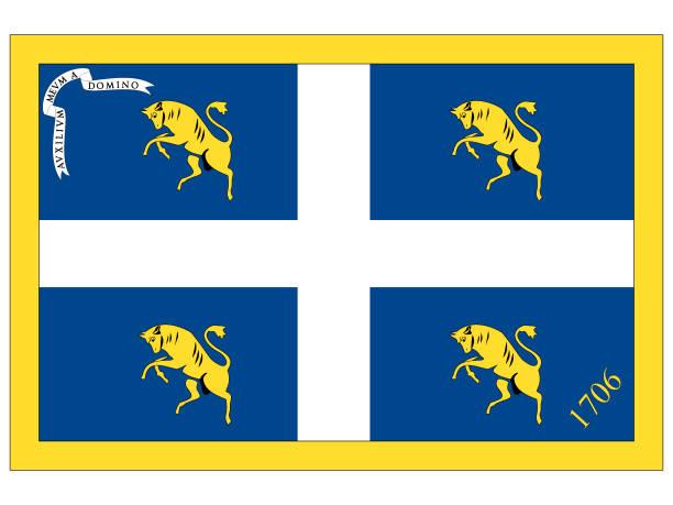 flagge der italienischen stadt turin - padua stock-grafiken, -clipart, -cartoons und -symbole