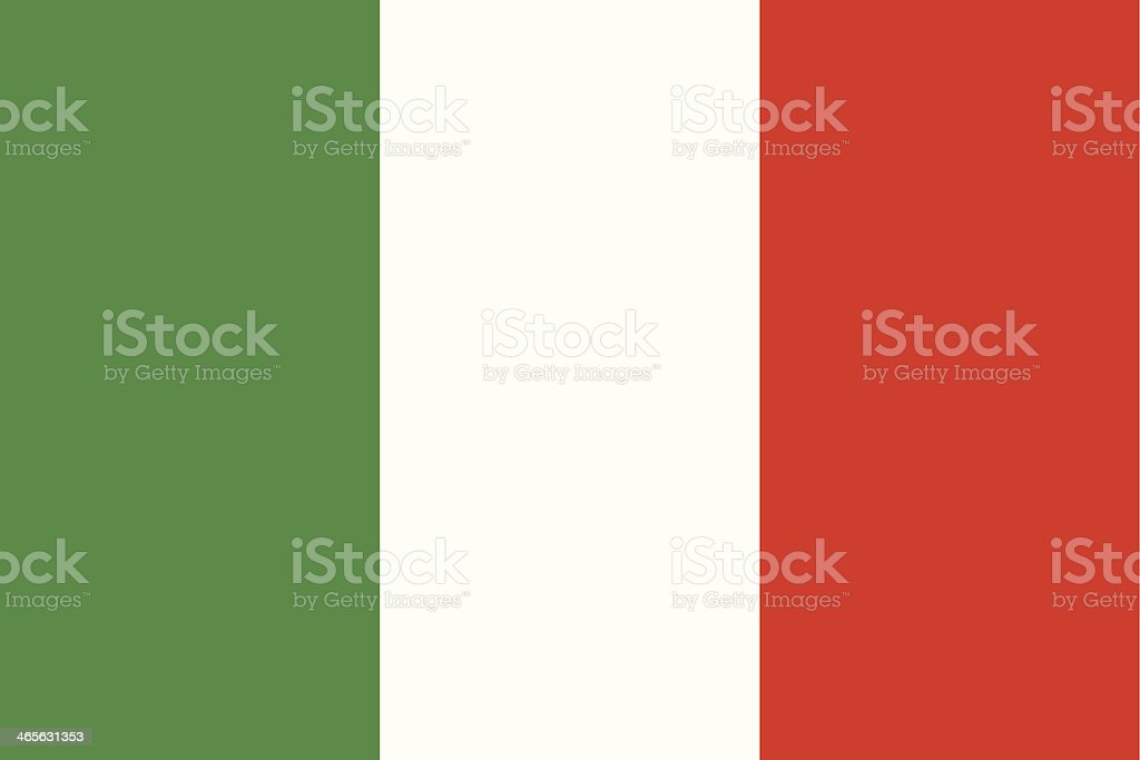 Flag of the Italy vector art illustration