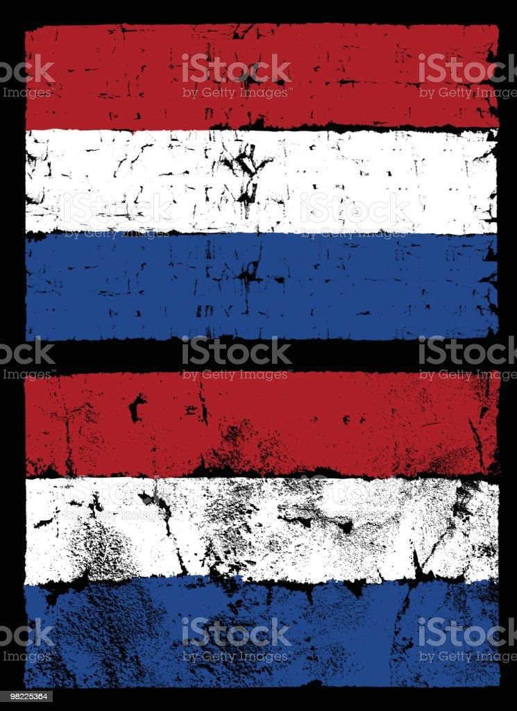 Flag of The Netherlands, Grunge Style royalty-free flag of the netherlands grunge style stock vector art & more images of backgrounds