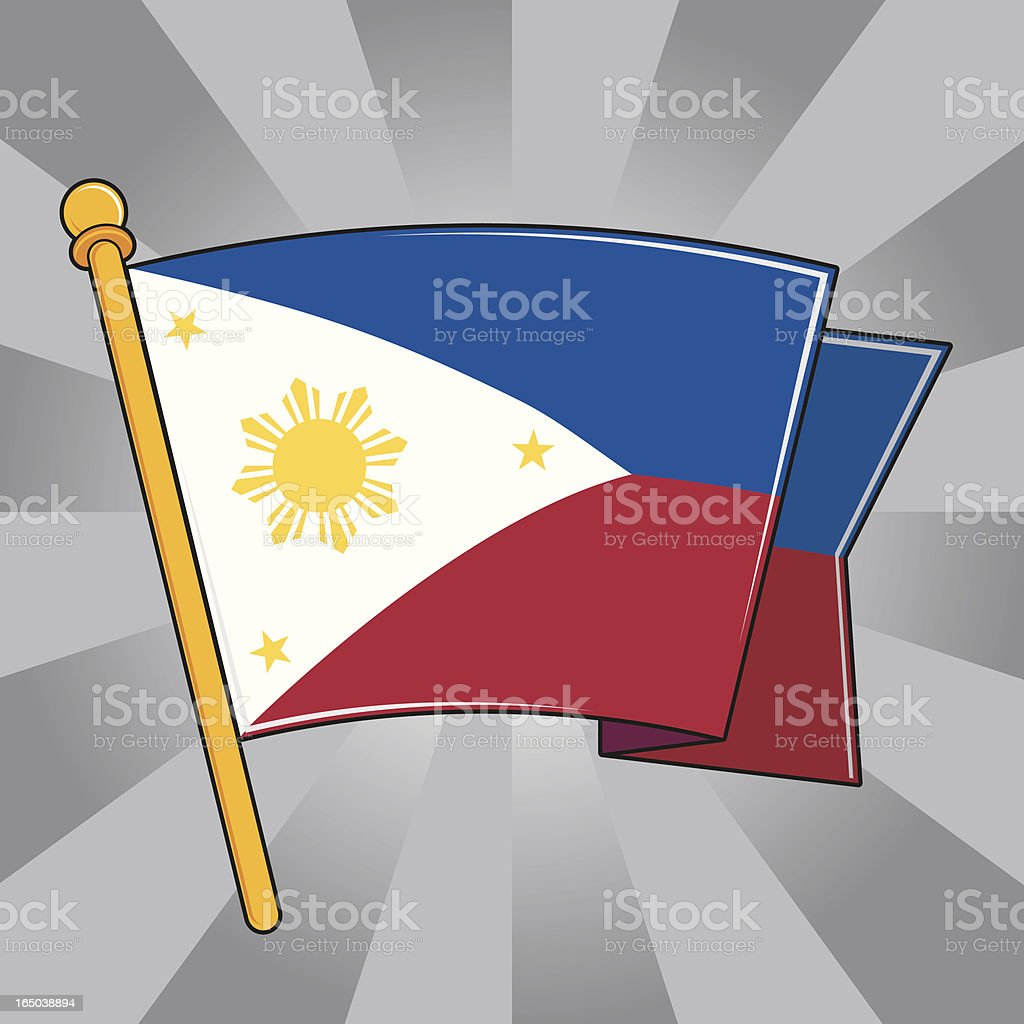 Flag of the Philippines royalty-free stock vector art
