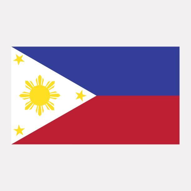 stockillustraties, clipart, cartoons en iconen met vlag van de filipijnen - filipijnen