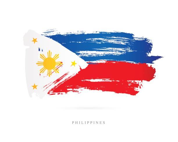 stockillustraties, clipart, cartoons en iconen met vlag van de filipijnen. vectorillustratie - filipijnen