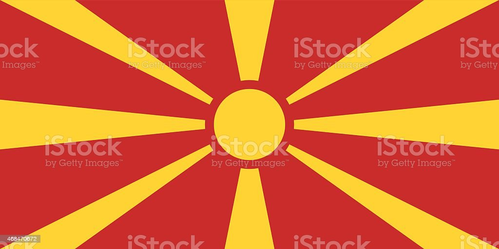 Flag of the Republic of Macedonia vector art illustration