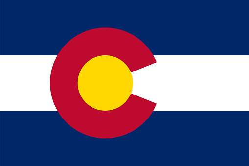 Flag of the State of Colorado Vector illustration eps10