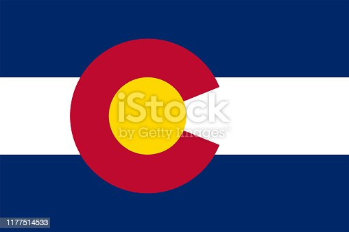 istock Flag of the State of Colorado Vector illustration 1177514533