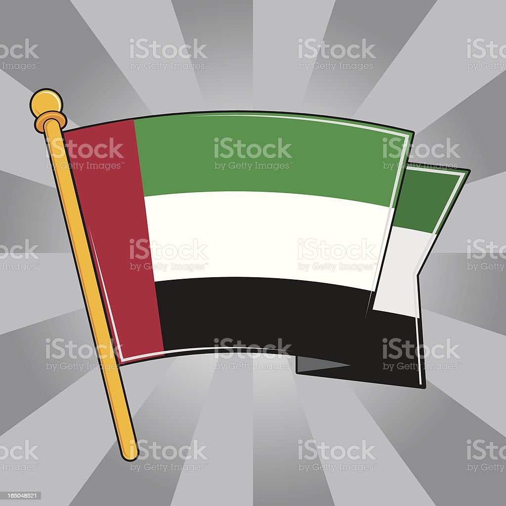 Flag of the United Arab Emirates royalty-free stock vector art