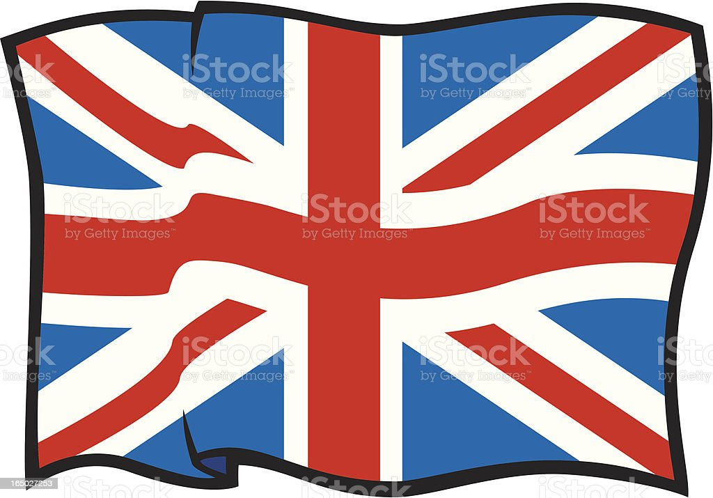 Flag of the United Kingdom royalty-free stock vector art