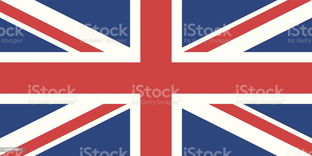 Flag of the United Kingdom vector art illustration
