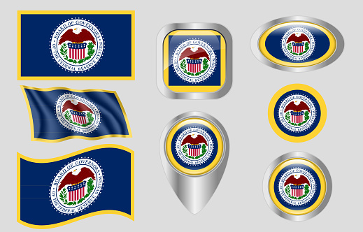 Flag Of The United States Federal Reserve Stock Illustration