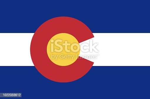 istock Flag of the USA State of Colorado, vector 1022033512