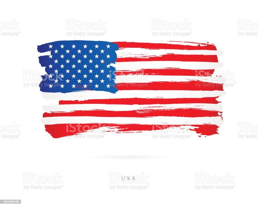 Flagge der USA. Vektor-illustration – Vektorgrafik