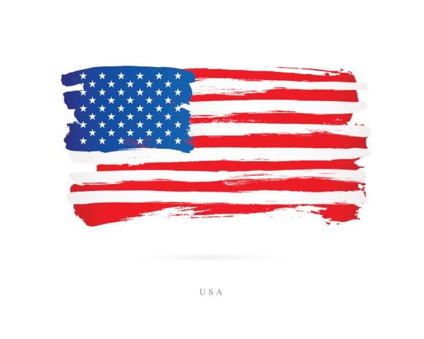 flag of the usa. vector illustration - us flag stock illustrations