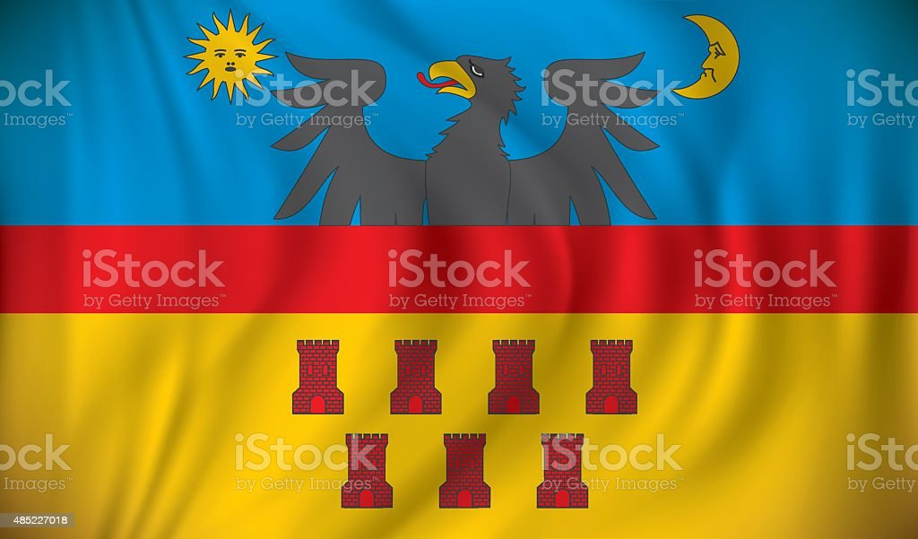Flag of Transylvania vector art illustration