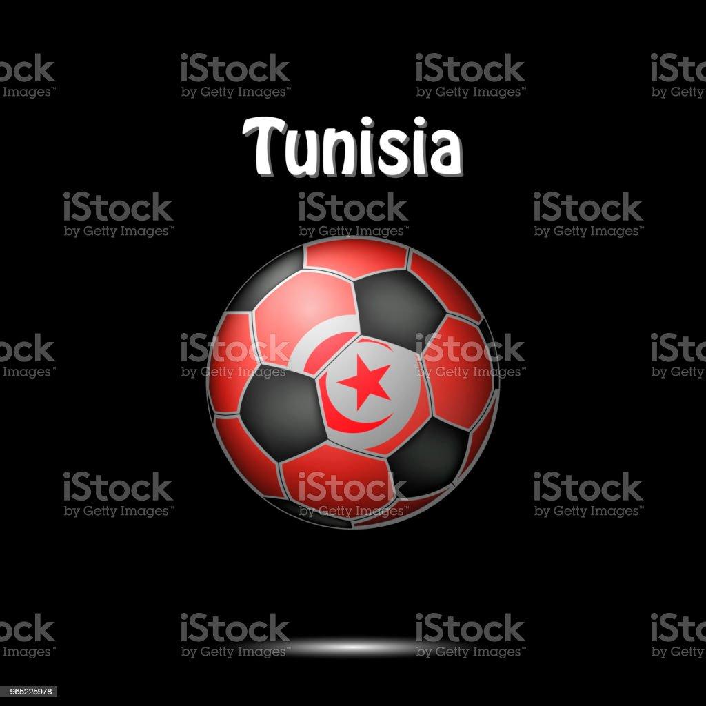 Flag of Tunisia in the form of a soccer ball flag of tunisia in the form of a soccer ball - stockowe grafiki wektorowe i więcej obrazów abstrakcja royalty-free