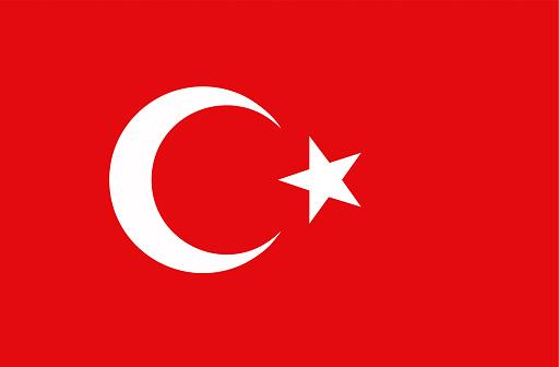 Flag of Turkey stock illustration