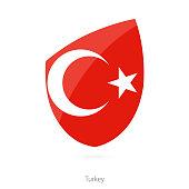 Flag of Turkey. Turkish Rugby flag. Vector Illustration.
