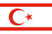 Flag of Turkish Republic of Northern Cyprus in official rate and colors vector