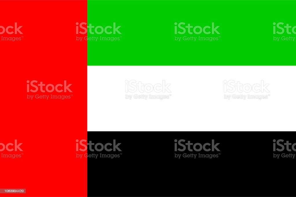Flag of United Arab Emirates - Grafika wektorowa royalty-free (Bez ludzi)
