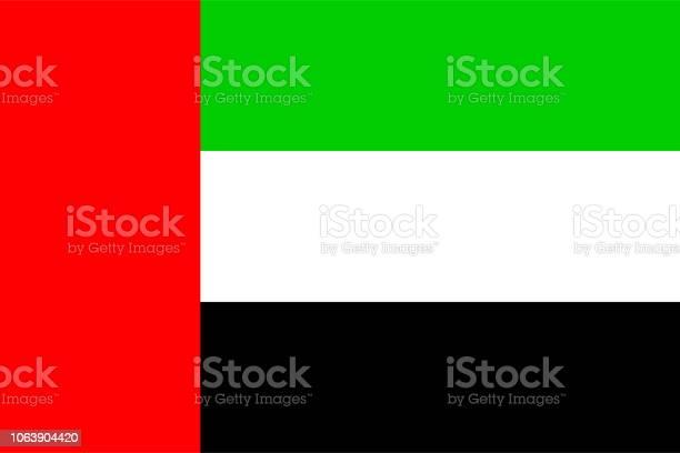 Flag Of United Arab Emirates - Stockowe grafiki wektorowe i więcej obrazów Bez ludzi