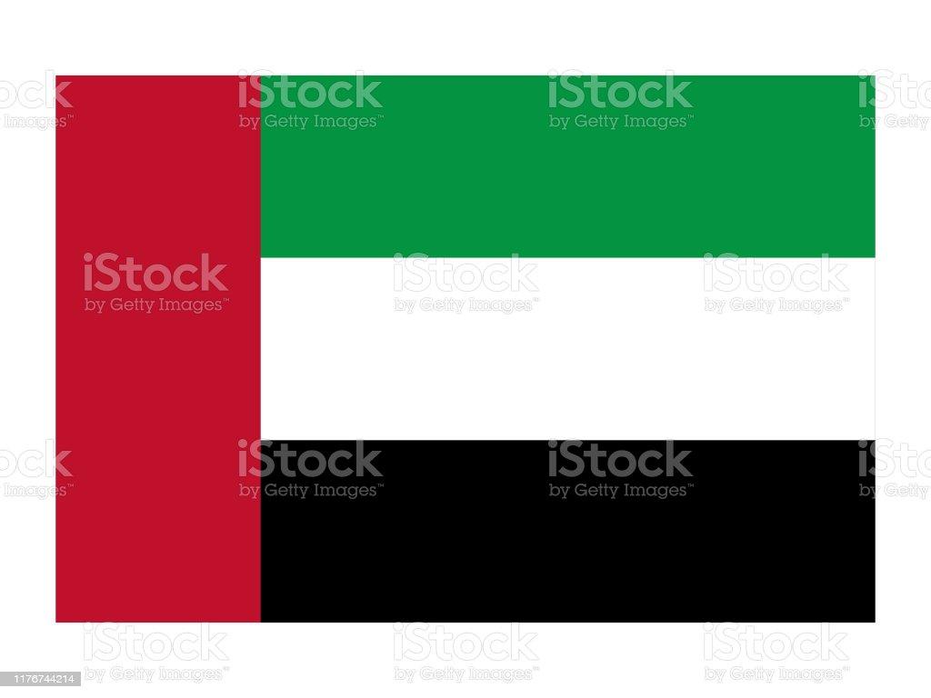 Flag of United Arab Emirates - Grafika wektorowa royalty-free (Abu Zabi)