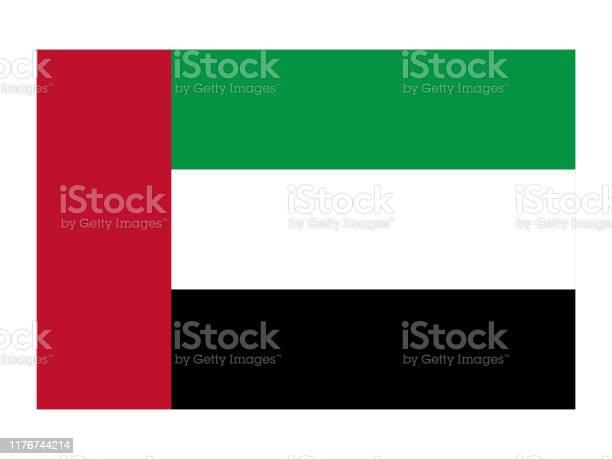 Flag Of United Arab Emirates - Stockowe grafiki wektorowe i więcej obrazów Abu Zabi