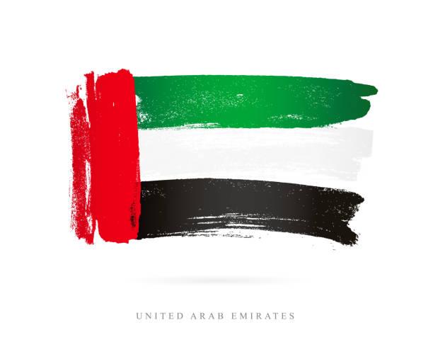 flag of united arab emirates - uae flag stock illustrations