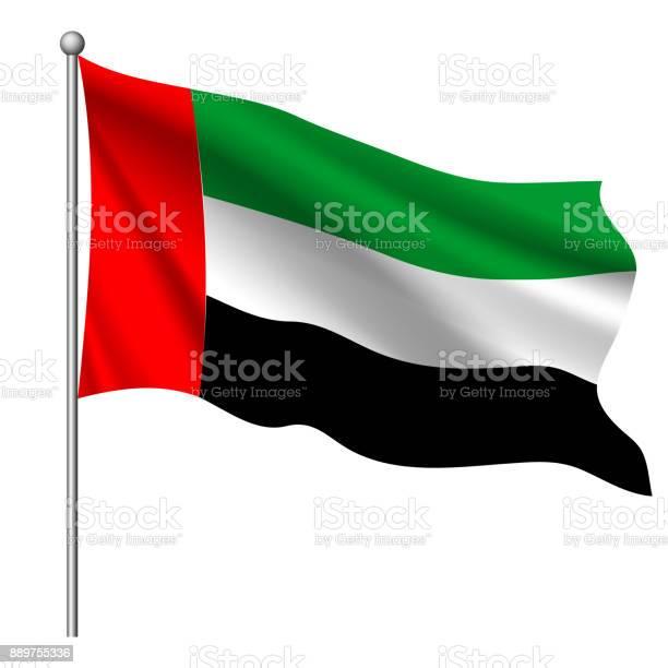 아랍 에미리트 연방 벡터 일러스트 레이 션의 국기입니다 검은색에 대한 스톡 벡터 아트 및 기타 이미지