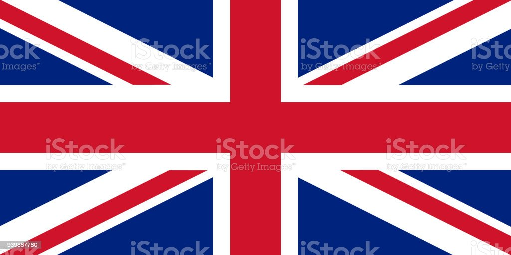 Flag of United Kingdom in national colors, vector vector art illustration