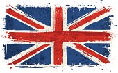 Flag of United Kingdom on Wall