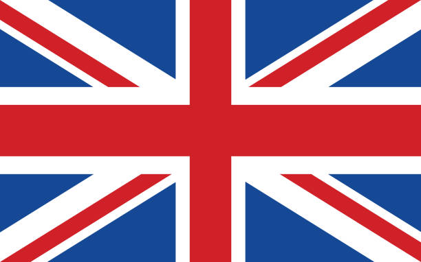 flag of united kingdom - union jack flag stock illustrations, clip art, cartoons, & icons